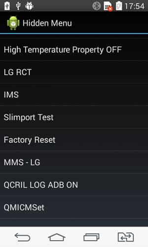 Reset settings LG K500H(LGK500H) aka LG X Screen